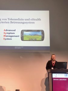 Simone Lubowitzki Vortrag Projekt Präsentation eSMART, Jahrestagung der Deutschen (DGHO), Österreichischen (OeGHO) und Schweizerischen (SGMO) Gesellschaften für Hämatologie und Medizinische Onkologie, Berlin 2019